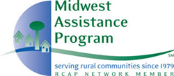 Logo for the Midwest Assistance Program | Serving rural communities since 1979 | RCAP NETWORK MEMBER